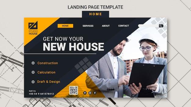 Créer Votre Propre Page D'accueil PSD Premium