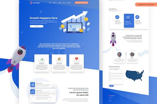La croissance se produit ici modèle de site web