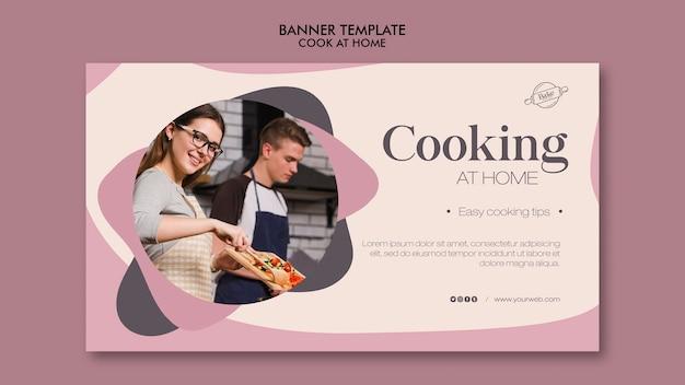 Cuisine à la maison concept de bannière