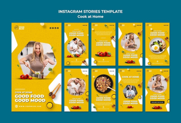 Cuisiner à la maison instagram stories