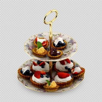 Cupcake 3d rendu isolé