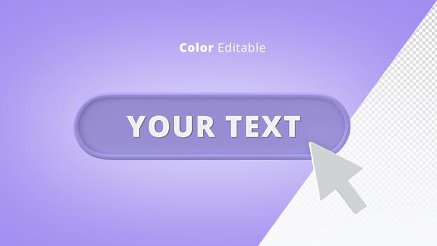 Curseur de souris 3d avec zone de texte pour l'interface utilisateur