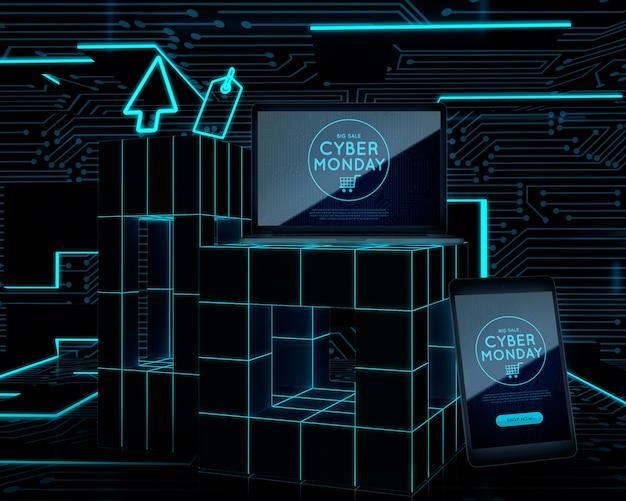 Cyber lundi offre pour les téléphones et ordinateurs portables