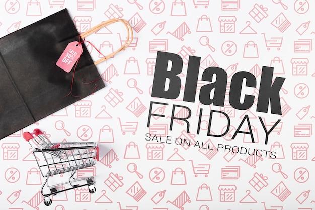 Cyber-shopping sur la promotion du vendredi noir
