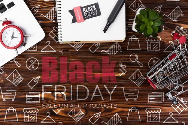 Cyber-ventes d'information pour le vendredi noir