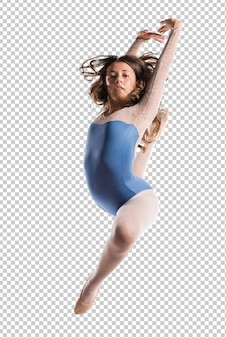 Danseuse adolescente sautant