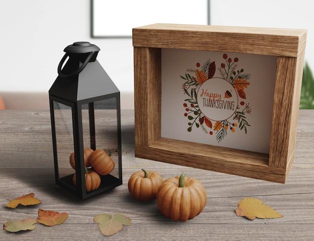 Décoration élégante pour le jour de thanksgiving