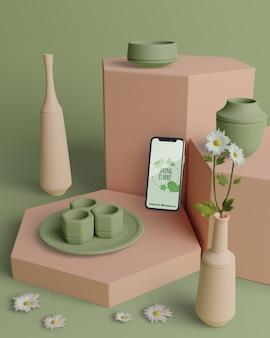 Décorations 3d de printemps avec téléphone