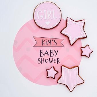 Décorations de douche de bébé pour fille