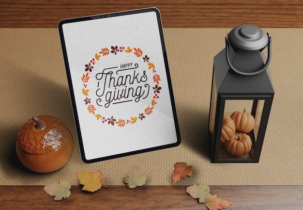Décorations spécifiques le jour de thanksgiving
