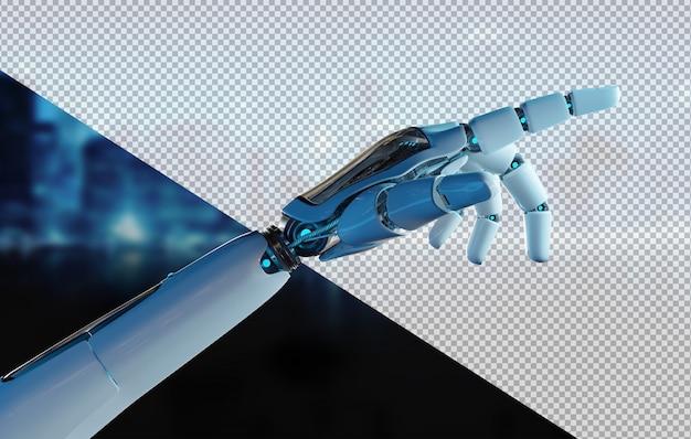 Découpez le doigt pointé de la main du robot