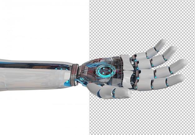 Découpez la main du robot ouvert