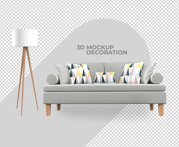 Définir le rendu de maquette de décoration intérieure