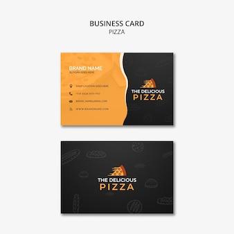 La délicieuse carte de visite de pizza