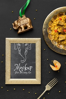 Délicieuse composition de la nourriture indienne