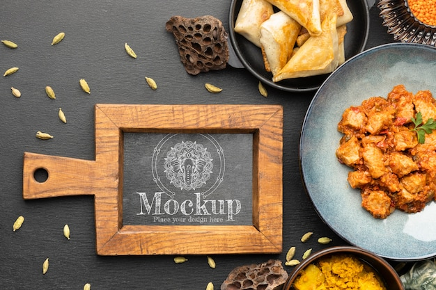 Délicieuse cuisine indienne avec maquette