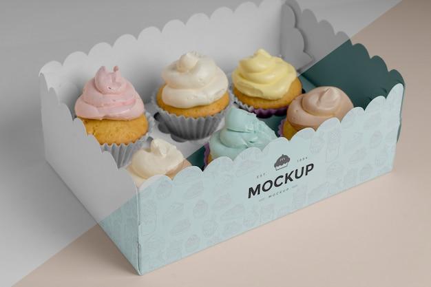 Délicieuse maquette de cupcake