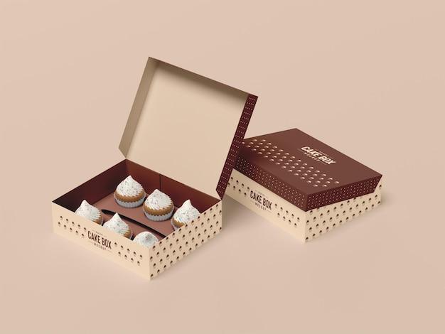 Délicieuse maquette d'emballage de petit gâteau