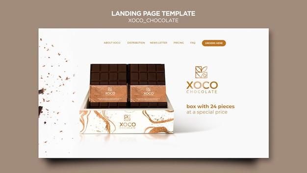 Délicieuse page de destination au chocolat