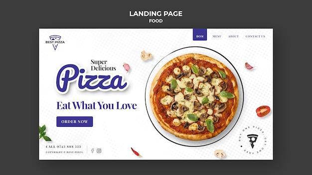 Délicieuse page de destination de pizza