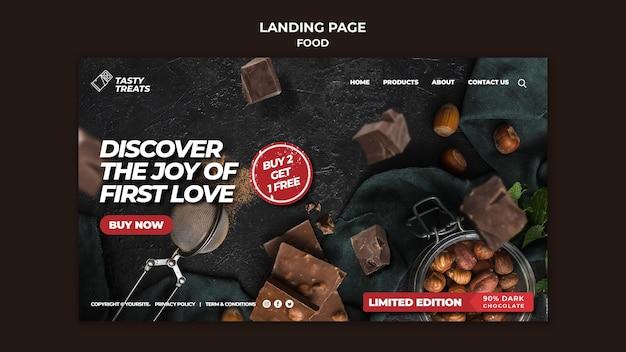 Délicieux page de destination des desserts