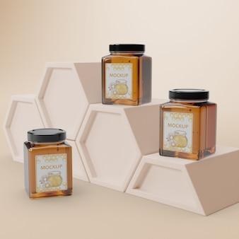Délicieux produit de miel sur table