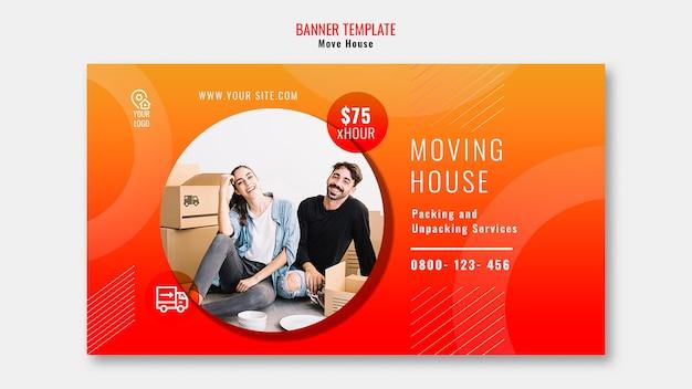 Déplacer la bannière de modèle de maison