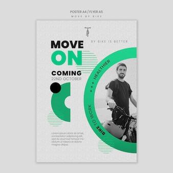 Déplacer le concept d'affiche à vélo