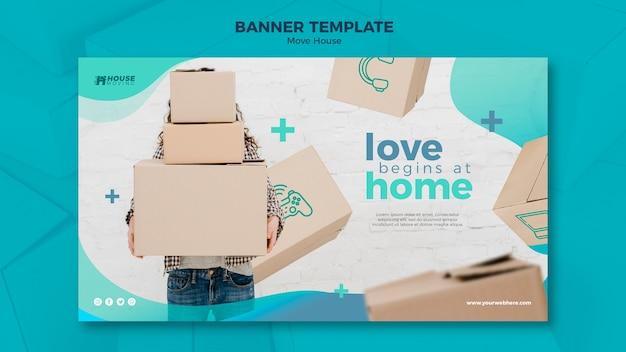 Déplacer le modèle de bannière de concept de maison