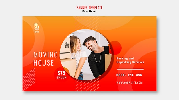 Déplacer le modèle de bannière de maison