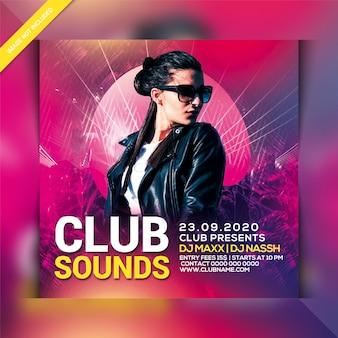 Dépliant club sounds party
