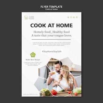 Dépliant de cuisine à la maison