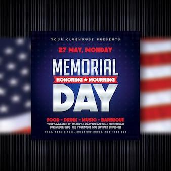 Dépliant du memorial day
