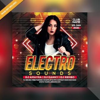 Dépliant electro sound party