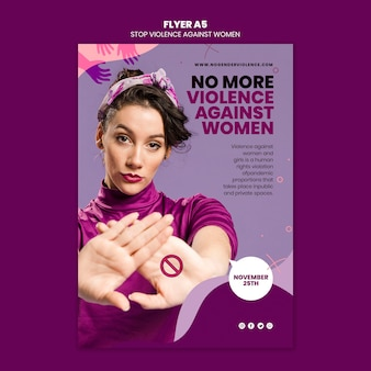 Dépliant sur l'élimination de la violence à l'égard des femmes a5