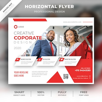 Dépliant d'entreprise horizontal