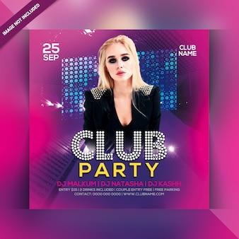 Dépliant fête club