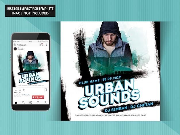 Dépliant de fête urban sounds