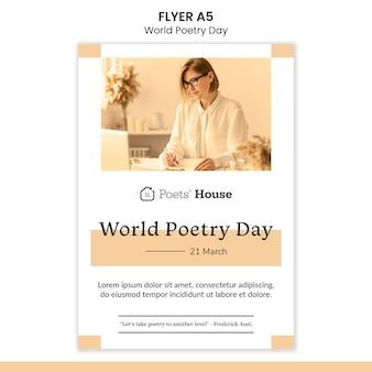 Dépliant de la journée mondiale de la poésie