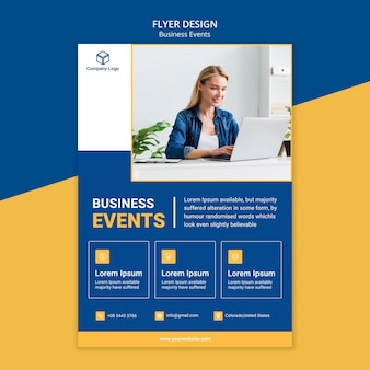 Dépliant marketing pour business template