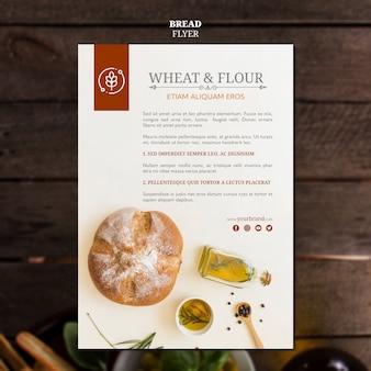 Dépliant de pain de blé et de farine