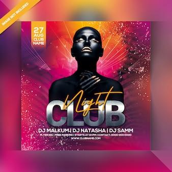 Dépliant party club night