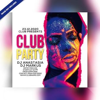 Dépliant party club
