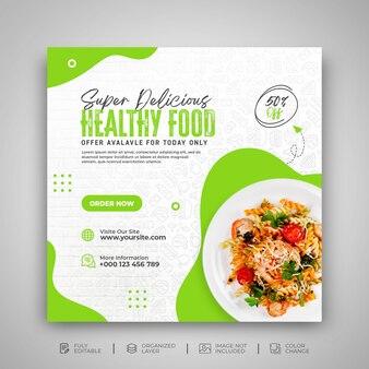 Dépliant de promotion du menu alimentaire