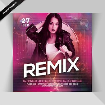Dépliant remix party