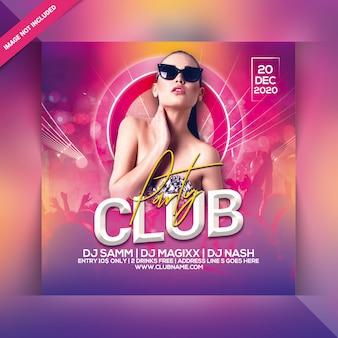 Dépliant soirée club