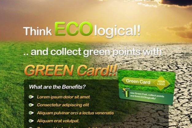 Dépliant sur le thème écologique propre
