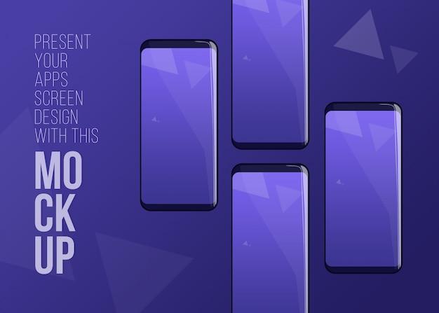 Dernière présentation de l'écran phone pro mockup for apps