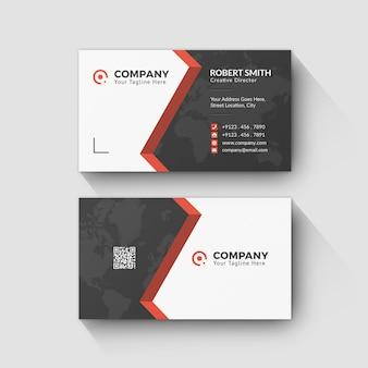 Design de carte de visite dégradé pour votre carte personnelle