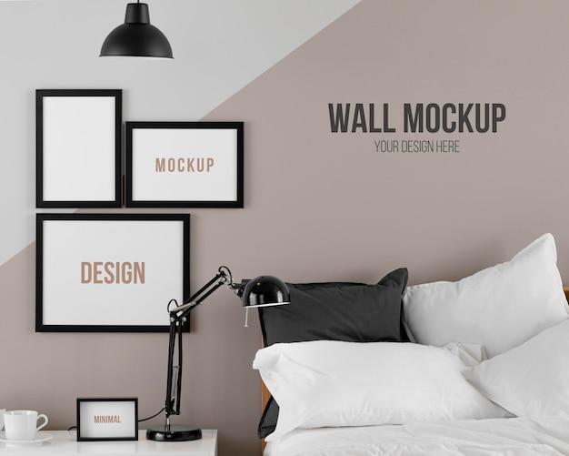 Design d'intérieur avec assortiment de cadres de maquette